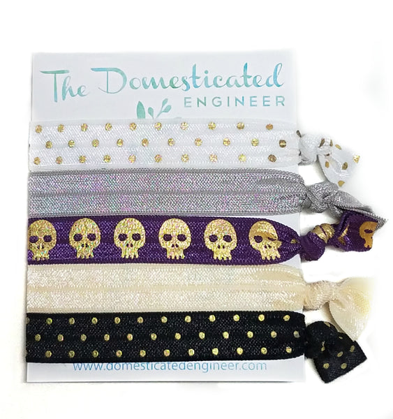 Skulls Hair Tie Set
