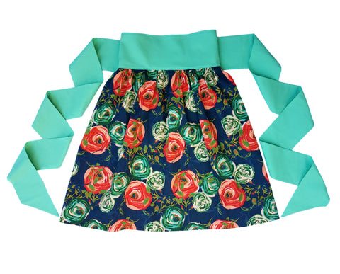 Women's Half Apron - Woodland Rose Print - One Size Fits All