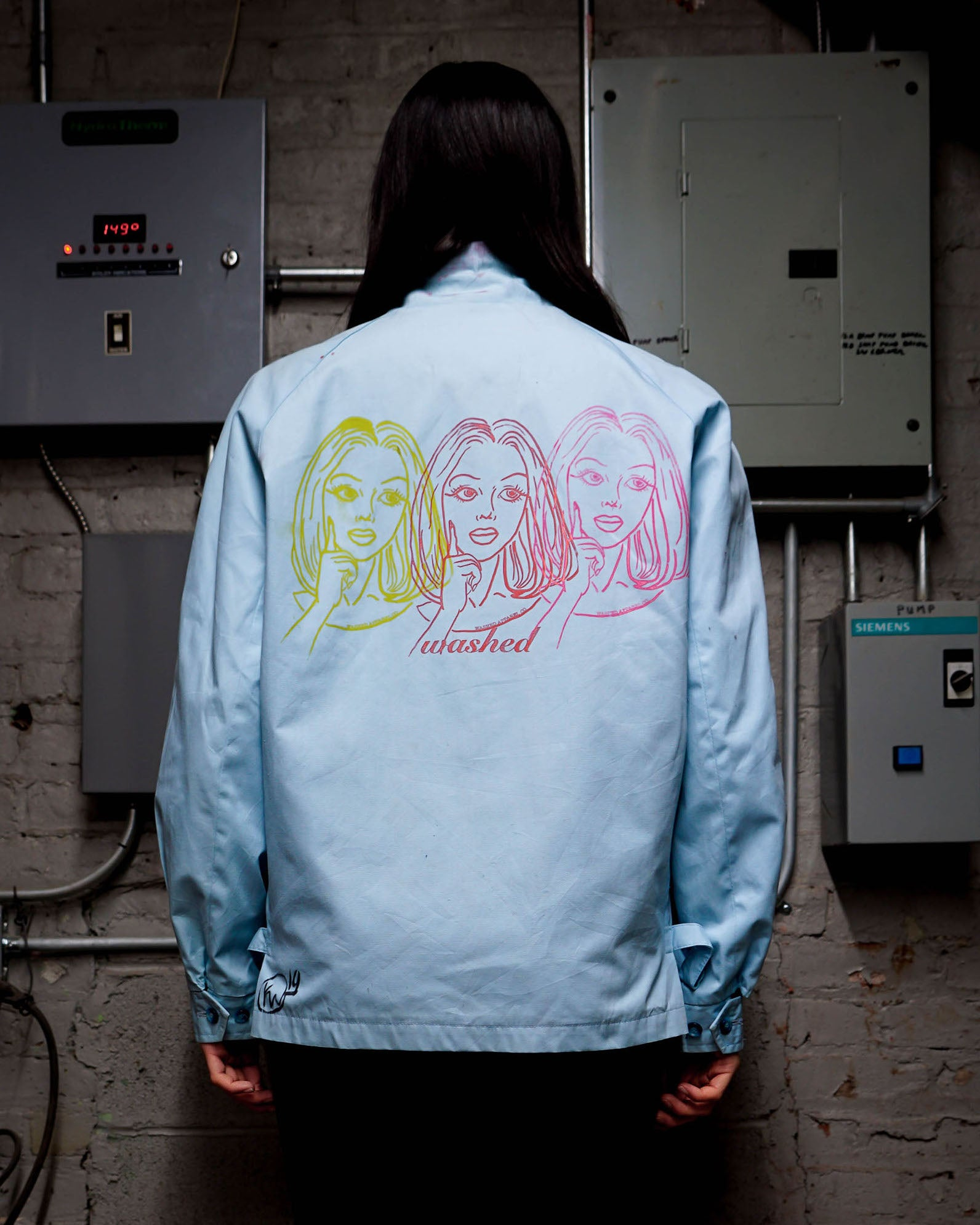 3 Face Print Women's Jacket 1 of 1