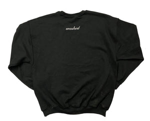 Black Hand-Printed 40 Crewneck