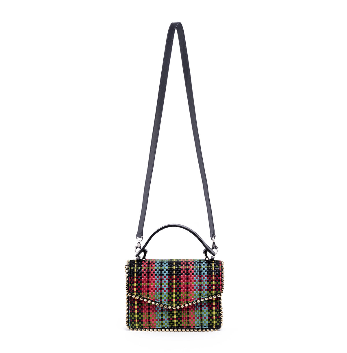 LULU METAL PIPING WOVEN TARTAN