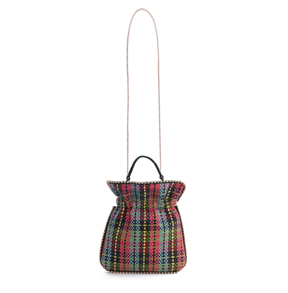 TRILLY METAL PIPING WOVEN TARTAN