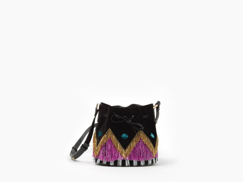 MINI DALIAH BUCKET DISCO FRINGE