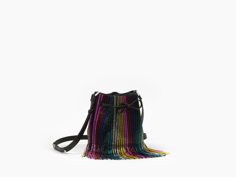 MINI DALIAH BUCKET RAINBOW FRINGE