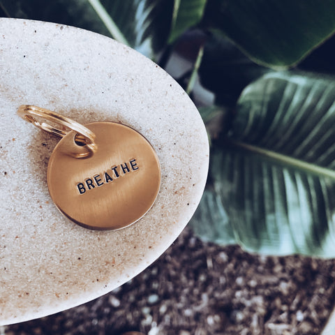 Breathe - Brass Keychain - JOURNEYSTRENGTH