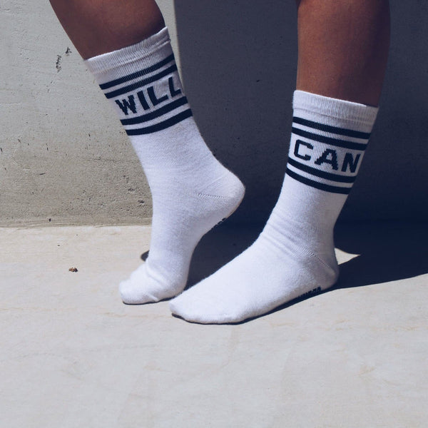 CAN. WILL OLD SCHOOL CREW SOCKS - JOURNEYSTRENGTH