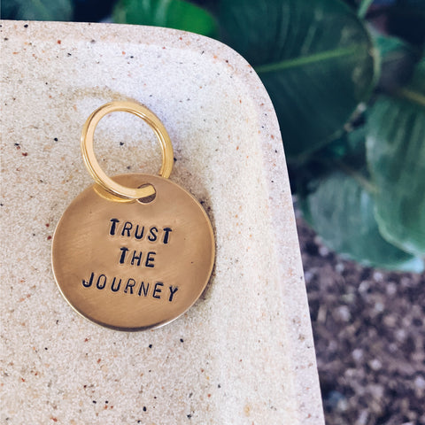 Trust The Journey - Brass Key Chain - JOURNEYSTRENGTH