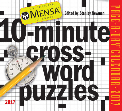 Mensa 10-Minute Crossword Puzzles Page-A-Day Calendar 2017