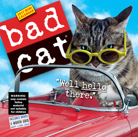 Bad Cat Mini Wall Calendar 2017