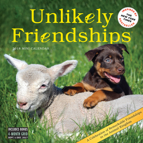 Unlikely Friendships Mini Wall Calendar 2018