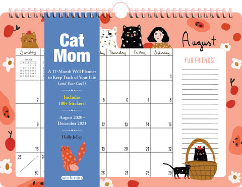 Cat Mom 17-Month Wall Calendar 2021
