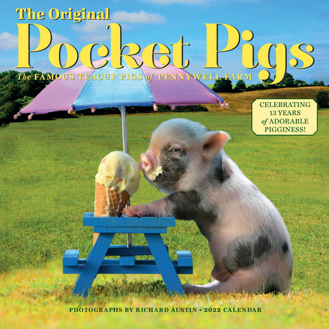 The Original Pocket Pigs Wall Calendar 2022