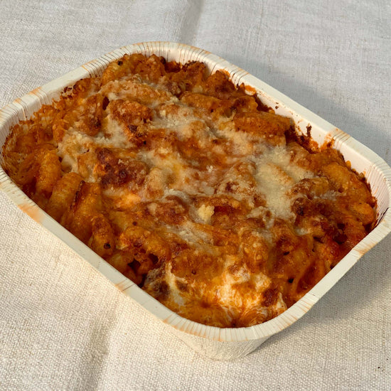 Pasta Al forno with Bacon and Pecorino