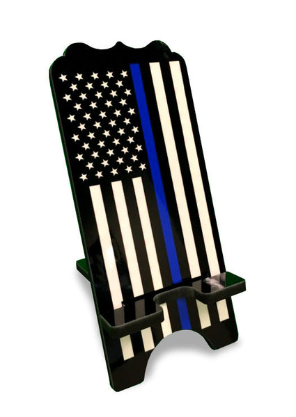 Item # CPI-060<br>Thin Blue Line Flag Smartphone Image Stand