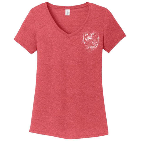 "2016 SLCPD ""Badge Distressed"" Ladies T-Shirt"