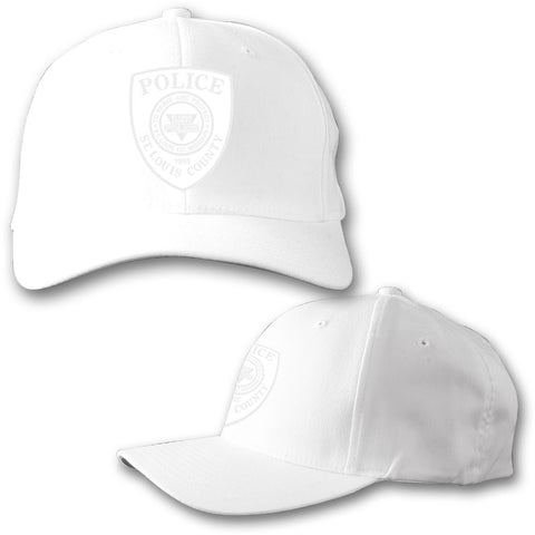 "Item # CHW-004<BR>SLCPD ""Tonal Badge"" White Hat"