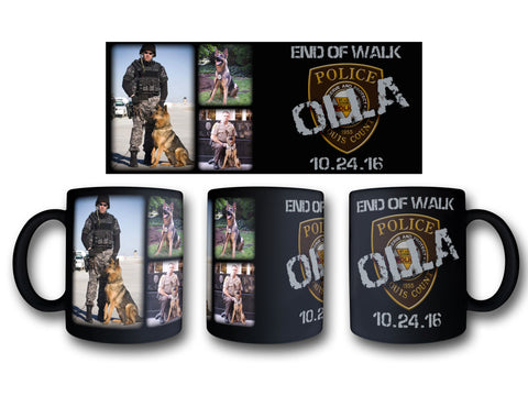 "Item # CDW-005<br>St. Louis County P.D. K-9 Unit ""Olla"" Tribute Coffee Mug"
