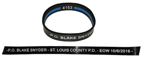 "Item # CPI-010<BR>Blake Snyder ""End of Watch"" Wrist Band"