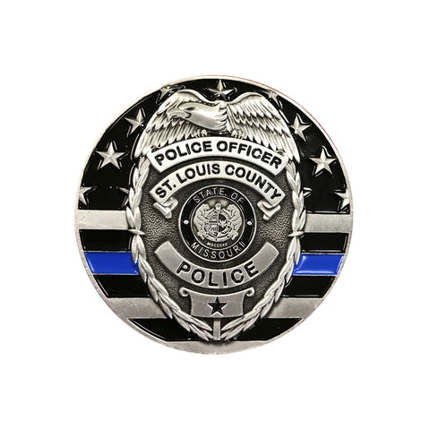 "Item # CPI-083<br>*Limited Edition* SLCPD ""Thin Blue Line"" Coin to benefit Officer Mike Shepard and his family in their time of need."