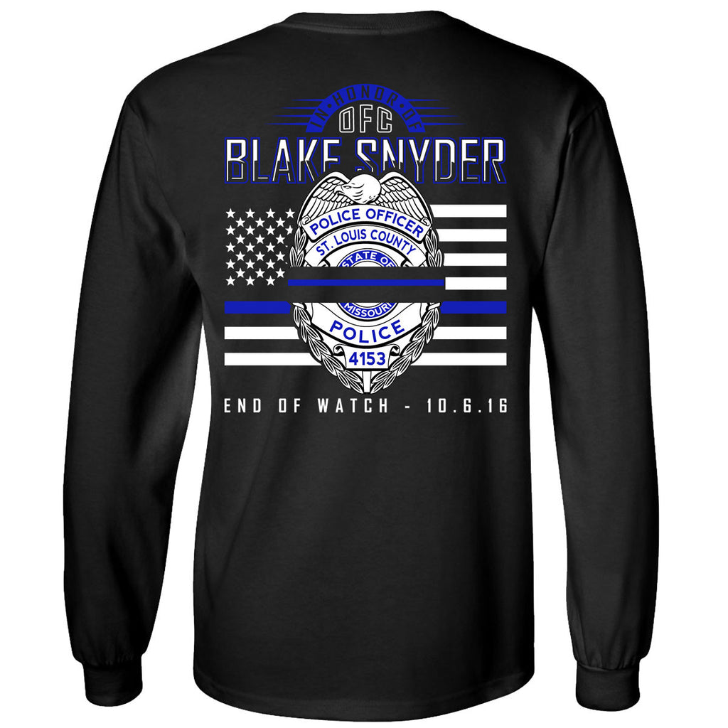 "Blake Snyder ""End of Watch"" T-Shirt (Long Sleeve)"