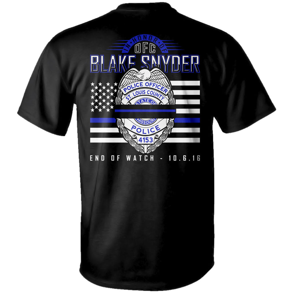 "Blake Snyder ""End of Watch"" T-Shirt (Short Sleeve) Adult & Youth Sizes Available"