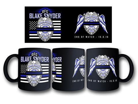 "Item # CDW-006<BR>Blake Snyder ""End of Watch"" Coffee Mug"