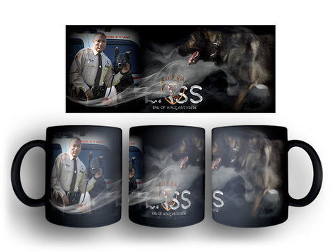 "Item # CDW-004<BR>St. Louis County P.D. K-9 Unit ""Lass"" Tribute Coffee Mug"