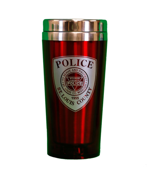 Item # CDW-010<BR>St. Louis County P.D. Travel Mug
