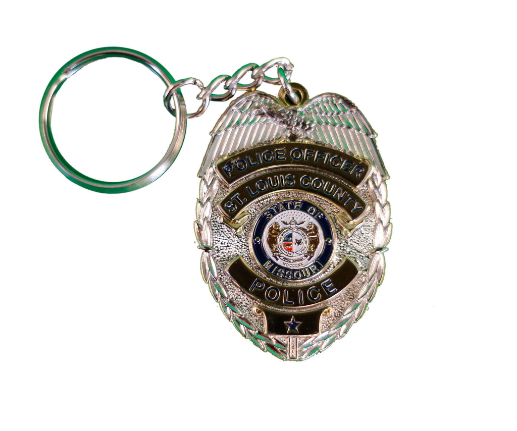 Item # CPI-011<br>St. Louis County P.D. Badge Key Chain