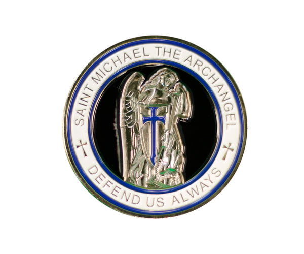"Item # CPI-004<br>SLCPD ""St. Michael"" Coin"