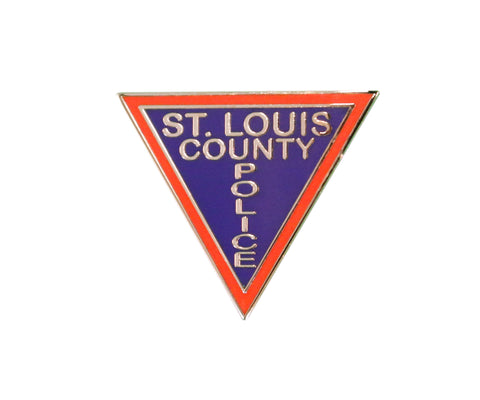 "Item # CPI-002<br>""St. Louis County Police"" Triangle Pin"