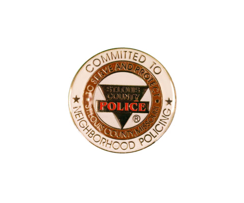 "Item # CPI-001<BR>""Committed To Neighborhood Policing"" Pin"