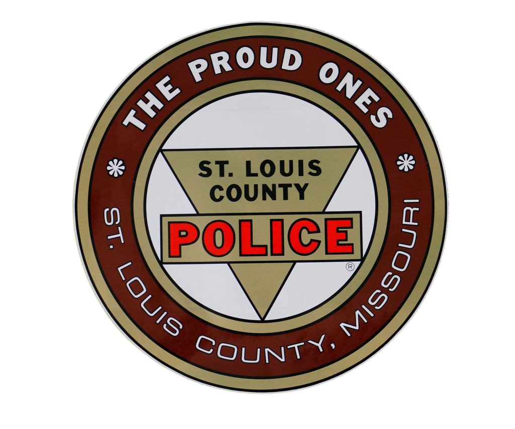 Item # CPI-045<br>St. Louis County P.D. Round Decals