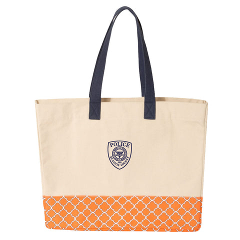 Copy of Item # CPI-088<br>St. Louis County P.D. Patterned Bottom Beach Tote