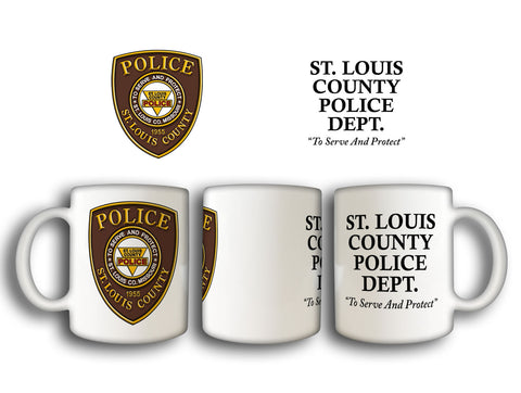 Item # CDW-001<BR>St. Louis County P.D. Coffee Mug
