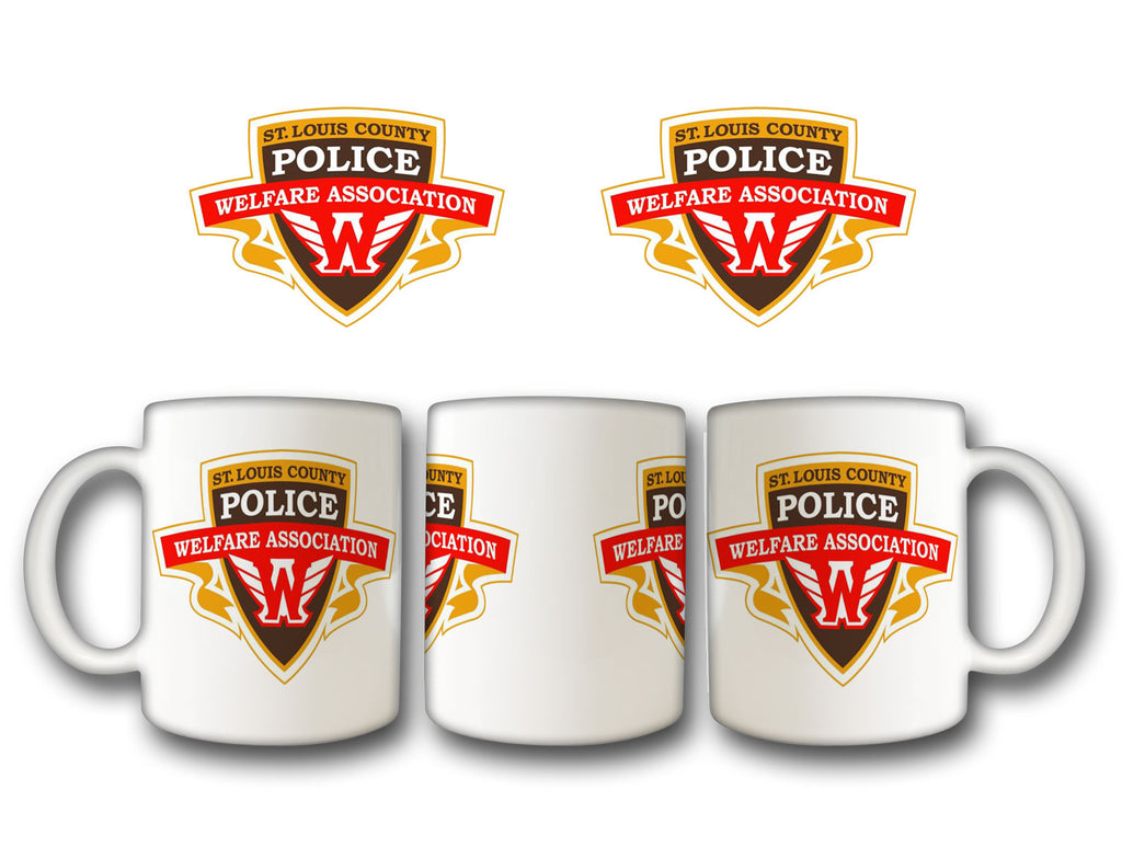 "Item # CDW-002<BR>St. Louis County P.D. ""Welfare Association"" Coffee Mug"