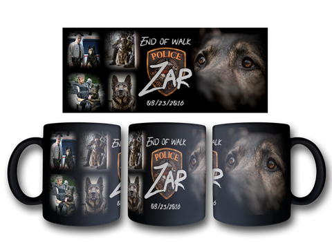 "Item # CDW-003<br>St. Louis County P.D. K-9 Unit ""Zar"" Tribute Coffee Mug"