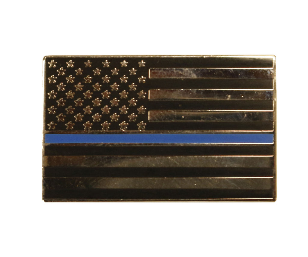 "Item # CPI-003<br>""Thin Blue Line"" Flag Pin"