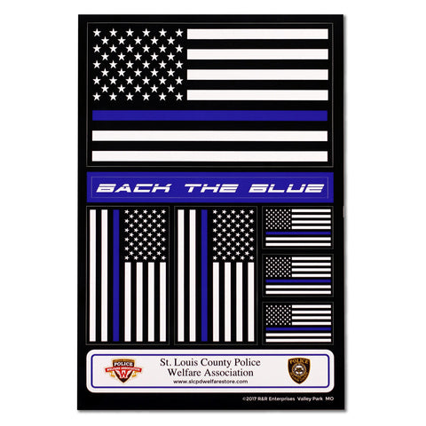 "Item # CPI-069<br>""Thin Blue Line"" Decal Set"