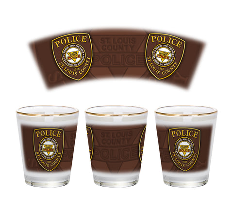Item # CDW-016<br>St. Louis County P.D. Shot Glass