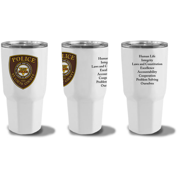 Item # CDW-023<BR>St. Louis County P.D. 30oz Stainless Steal Tumbler