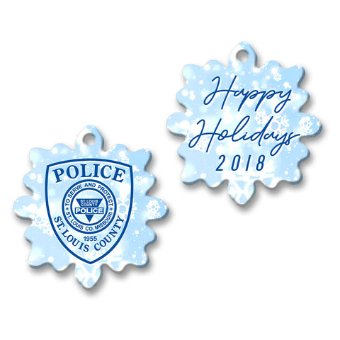 "SLCPD ""Happy Holidays"" Blue Ornament"