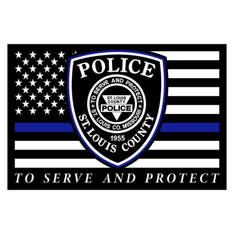"SLCPD ""Thin Blue Line"" Canvas Print"