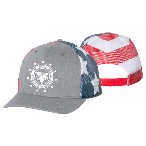 "Item # CHW-014<BR>SLCPD ""The Proud Ones"" Printed Mesh-Back Trucker Hat"