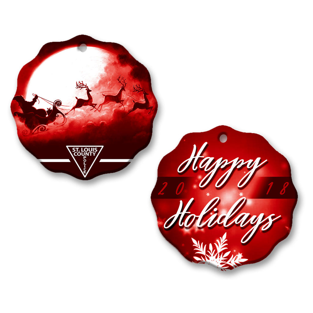 "Copy of SLCPD ""Happy Holidays"" Red Ornament"