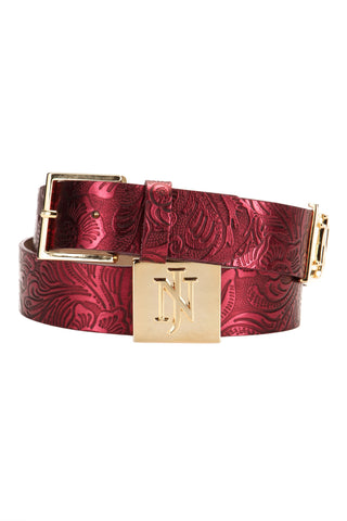 Belt Camilla Brocade Red