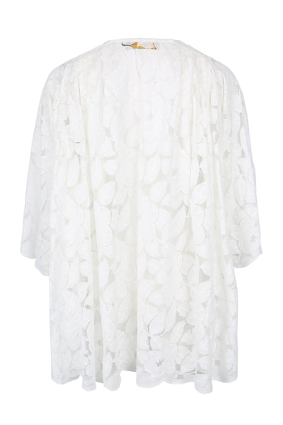 Tunic Elisa with Arms Lace Offwhite