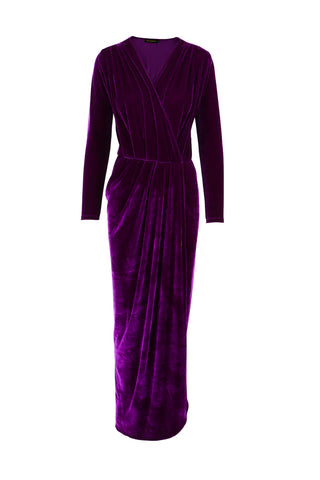 Dress Aldi Long Velvet Violet