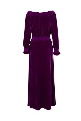 Dress Nigella Long Velvet Violet