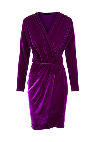 Dress Aldi Short Velvet Violet